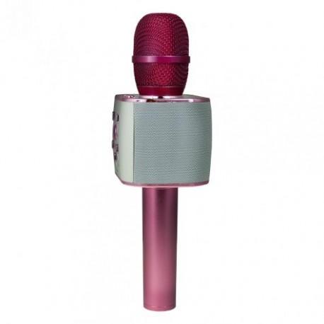 MICROPHONE HAUT-PARLEUR KARAOKÉ KSIX SING & GO PLUS /rose